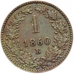 Moneda > 1kreuzer, 1858-1881 - Àustria  - reverse