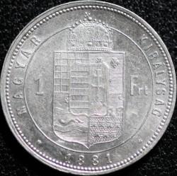 Moeda > 1florin, 1880-1881 - Hungria  - reverse