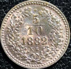 Монета > 5/10крейцера, 1882 - Венгрия  - reverse