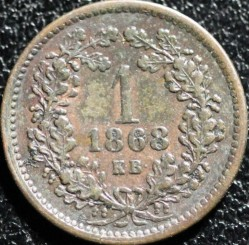 Moeda > 1krajcar, 1868-1873 - Hungria  - reverse