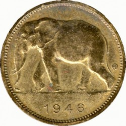 1 Franken 1944 1949 Belgisch Kongo Münzen Wert Ucoinnet