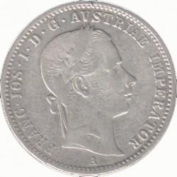 Монета > ¼флорина, 1857-1859 - Австрія  - obverse