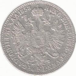 Монета > ¼флорина, 1857-1859 - Австрія  - reverse