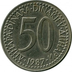 Moneda > 50dinara, 1987 - Iugoslàvia  - obverse