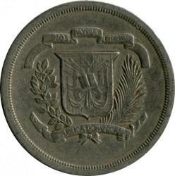 Coin > 25centavos, 1978-1981 - Dominican Republic  - obverse