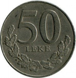 Coin > 50lekë, 1996 - Albania  - obverse