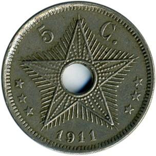 5 Centimes 1910 1928 Belgisch Kongo Münzen Wert Ucoinnet