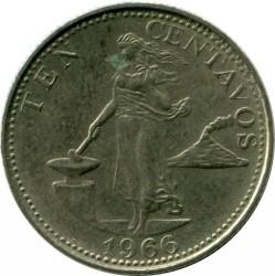 Coin > 10centavos, 1958-1966 - Philippines  - reverse
