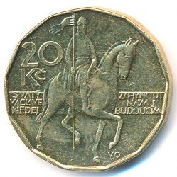 錢幣 > 20克朗, 1993-2018 - 捷克  - reverse
