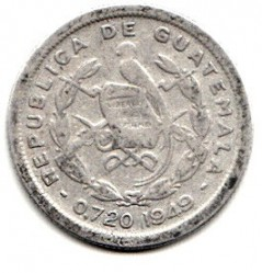 Монета > 10сентаво, 1949-1959 - Гватемала  - obverse