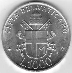 Mynt > 1000lire, 1992 - Vatikanstaten  - reverse