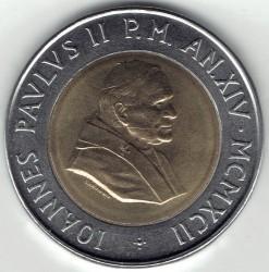 Mynt > 500lire, 1992 - Vatikanstaten  - obverse