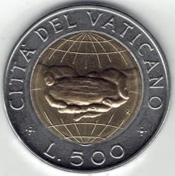 Mynt > 500lire, 1992 - Vatikanstaten  - reverse
