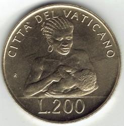 Mynt > 200lire, 1992 - Vatikanstaten  - reverse