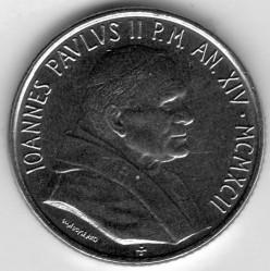 Minca > 100lire, 1992 - Vatikán  - obverse