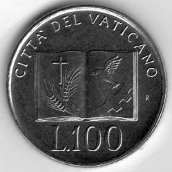 Minca > 100lire, 1992 - Vatikán  - reverse