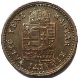 Moeda > 1krajcar, 1891-1892 - Hungria  - obverse