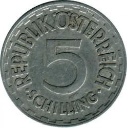Münze > 5Schilling, 1952-1957 - Österreich   - obverse