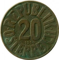 Minca > 20groschen, 1950-1954 - Rakúsko  - obverse
