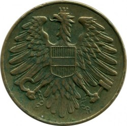 Minca > 20groschen, 1950-1954 - Rakúsko  - reverse