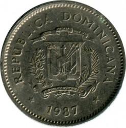 מטבע > 10סנטאבו, 1983-1987 - הרפובליקה הדומיניקנית  - obverse