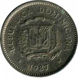 מטבע > 10סנטאבו, 1983-1987 - הרפובליקה הדומיניקנית  - reverse