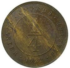 Moneta > ¼piastro, 1922-1926 - Kipras  - obverse