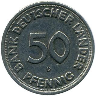 50 pfennig 1949 j