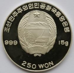 Moneda > 250won, 1999 - Corea del Norte  (Ludwig van Beethoven) - obverse