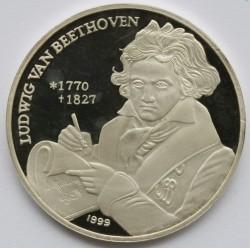 Moneda > 250won, 1999 - Corea del Norte  (Ludwig van Beethoven) - reverse