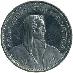 Moneta > 5franków, 1982 - Szwajcaria  - obverse