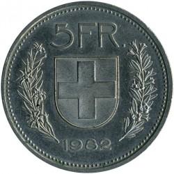 Moneta > 5franków, 1982 - Szwajcaria  - reverse