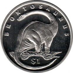 Moneta > 1dollaro, 2006 - Sierra Leone  (Dinosauri - Brontosauro) - reverse