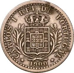 Munt > 100reis, 1900 - Portugal  - obverse