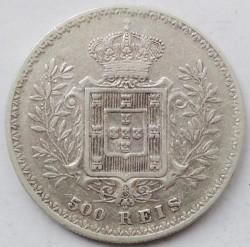 Монета > 500рейса, 1891-1908 - Португалия  - reverse