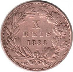 Кованица > 10реиса, 1882-1886 - Португал  - reverse