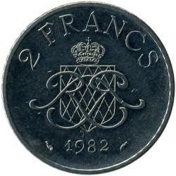 Munt > 2francs, 1979-1982 - Monaco  - reverse