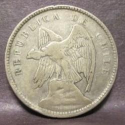 Coin > 40centavos, 1907-1908 - Chile  - obverse