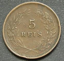 Кованица > 5реиса, 1890-1906 - Португал  - reverse