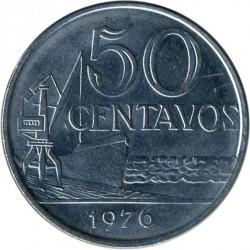 Монета > 50сентаво, 1976 - Бразилия  - reverse