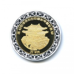 Moneta > 30won, 2008 - Corea del Nord  (XXIX Giochi olimpici estivi, Pechino 2008 - Ginnastica) - obverse