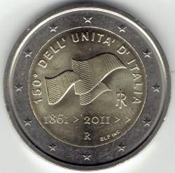 Moneta > 2euro, 2011 - Italia  (150° Anniversario - Unità d'Italia) - reverse