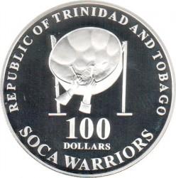 Mynt > 100dollars, 2006 - Trinidad og Tobago  (2006 World Football Cup Germany) - obverse