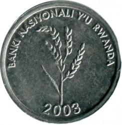 Moneda > 1franco, 2003 - Rwanda  - reverse