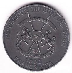 Монета > 1000франков, 2015 - Буркина Фасо  (Детёныш мамонта) - obverse
