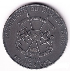 Монета > 1000франков, 2015 - Буркина Фасо  (Детёныш мамонта) - reverse