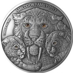 Монета > 10000франков, 2013 - Буркина Фасо  (Семья смилодонов) - reverse