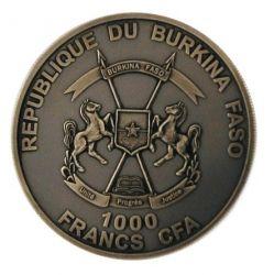 Монета > 1000франков, 2013 - Буркина Фасо  (Крокодил) - obverse
