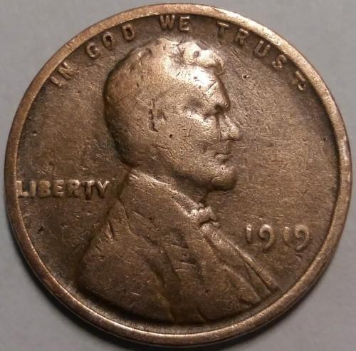 1 Cent 1919 Wheat Penny Lincoln Usa Münzen Wert Ucoinnet