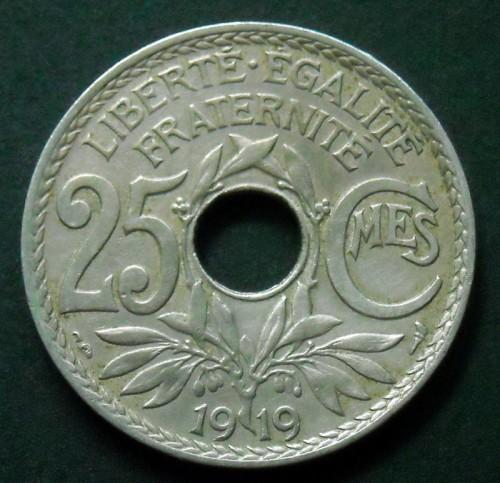 ca FRANCE 25 centimes 1919 LINDAUER